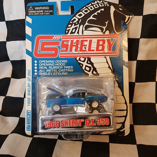 Shelby Collectibles 1966 Shelby GT350 Mustang Blue White Stripes