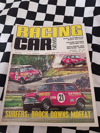 RACING CAR NEWS 12/73 mini