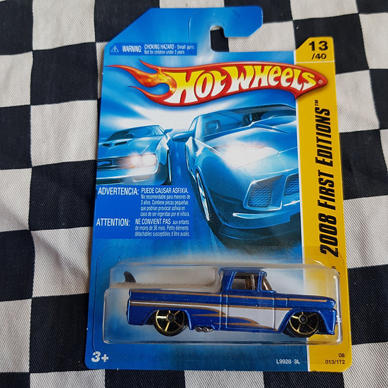 Hot Wheels 2008 First Editions Custom 62 Chevy Pickup Blue