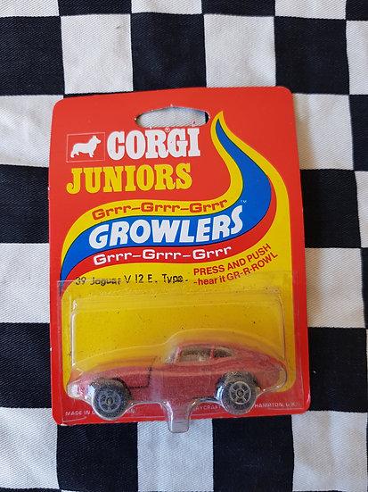 Corgi Juniors GROWLERS Jaguar V12 E Type Red Carded