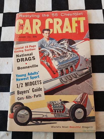 (LITTLE PAGES) CAR CRAFT  magazine december 1958