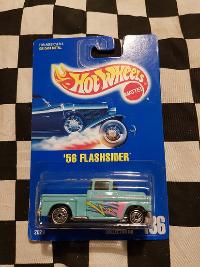 Hot Wheels 1991 #136 Blue Card 56 Flashsider