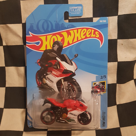 Hot Wheels 2019 Moto Ducati1199 Panigale Red/White