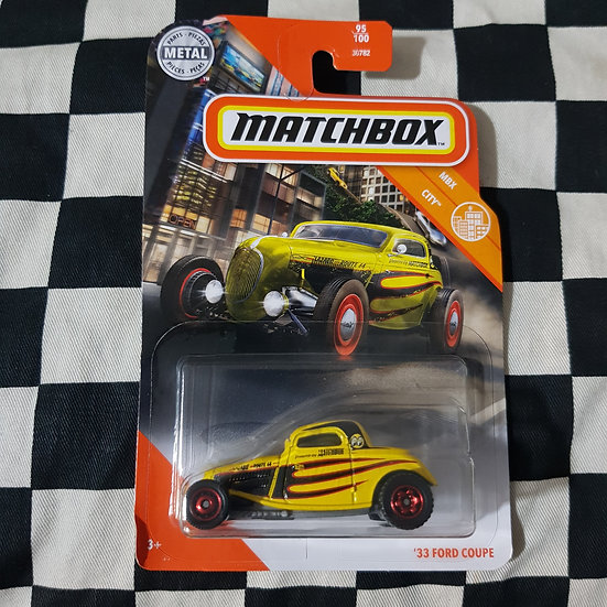 Matchbox Mbx City 33 Ford Coupe Yellow