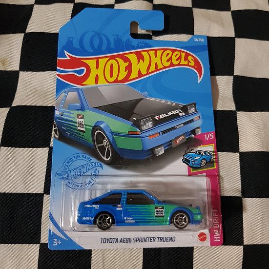 Hot Wheels 2021 Drift Toyota AE86 Sprinter Trueno Falken Blue/Green