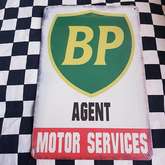 Tin Sign Repro 20x30 BP Agent