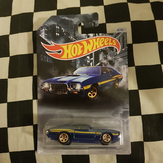 Hot Wheels 2020 American Steel 72 Ford Gran Torino Sport Blue