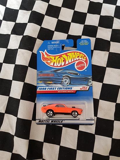Hot Wheels 1998 First Editions Fluro Orange VARIATION Mustang Mach 1