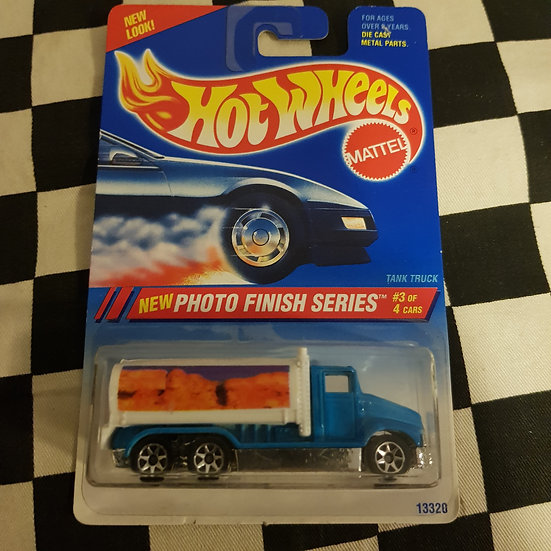 Hot Wheels 1994 PHoto Finish Series Tank Truck Blue