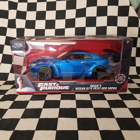 Jada 1:24 Fast & Furious Brian's Nissan GT-R R35 Ben Sopra