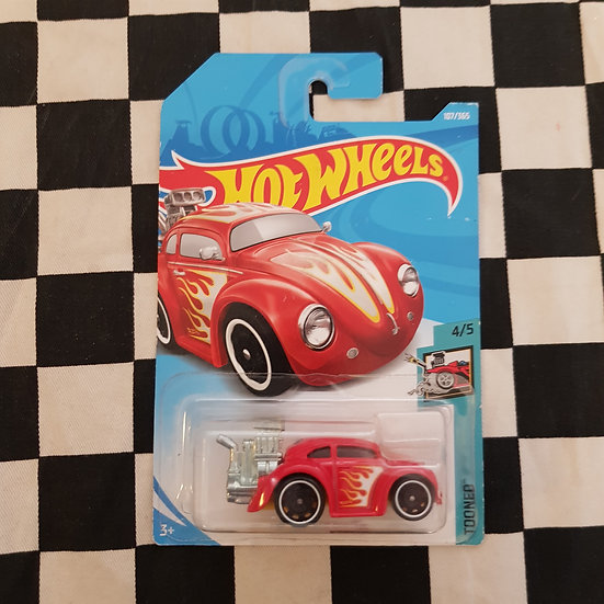 Hot Wheels 2018 Tooned Volkswagen Beetle RED