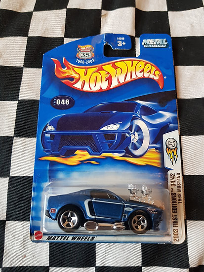 Hot Wheels 2003 First Editions 1968 Mustang Dark Blue