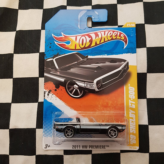 Hot Wheels 2011 First Edition 68 Shelby GT500 Black Mustang