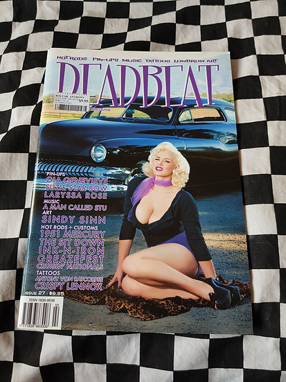 DEADBEAT Magazine #27 Hotrods Pinups Music Tattoos Lowbrow Art