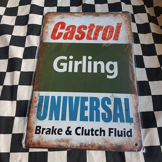 Tin Sign Repro 20x30 Castrol Girling