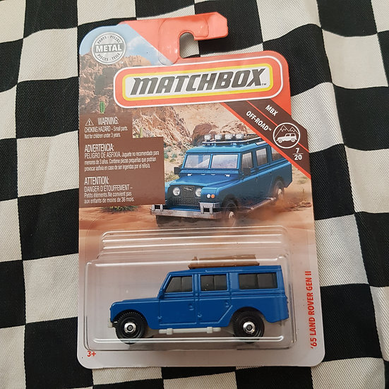 Matchbox 65 Land Rover Gen II Blue