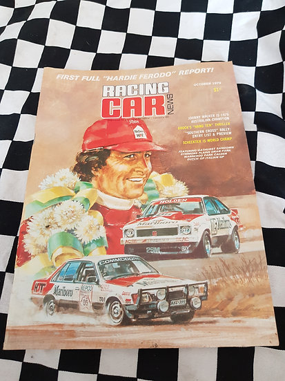 RACING CAR NEWS 10/78  Brock!