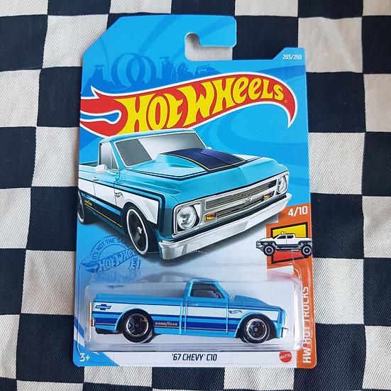 Hot Wheels 2021 Hot Trucks 67 Chevy C10 Blue
