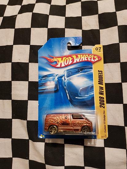 Hot Wheels 2008 First Edition Custom 77 Dodge Van