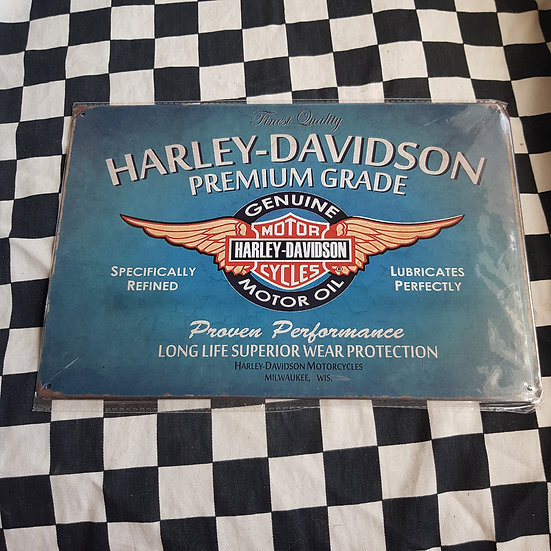 Tin Sign Repro 20x30 Harley Davidson Motor Oil