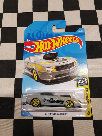 Hot Wheels 2019 Speed Graphics MOONEYES 10 Pro Stock Camaro Grey Moon Short Card