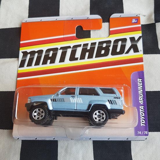 Matchbox 2009 Toyota 4Runner Blue Short Card HTF Hilux