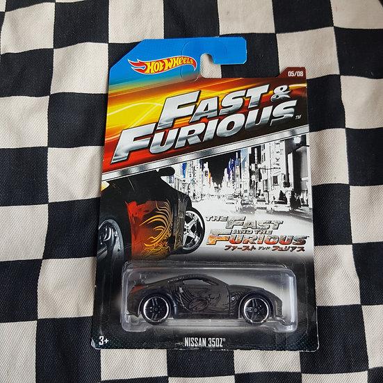 Hot Wheels 2014 Fast & Furious Nissan 350Z Grey