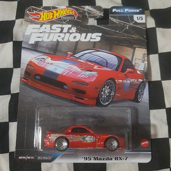 Hot Wheels Premium Fast & Furious Full Force 95 Mazda RX7