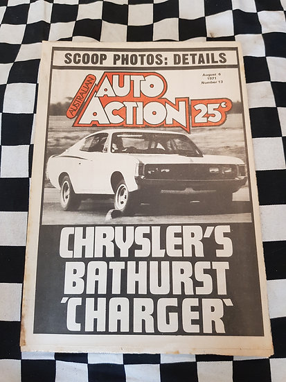 Australian Auto Action Magazine #13 Aug 6 1971