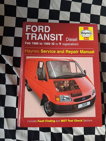 Ford transit 1986 to 1999 diesel Haynes workshop manual