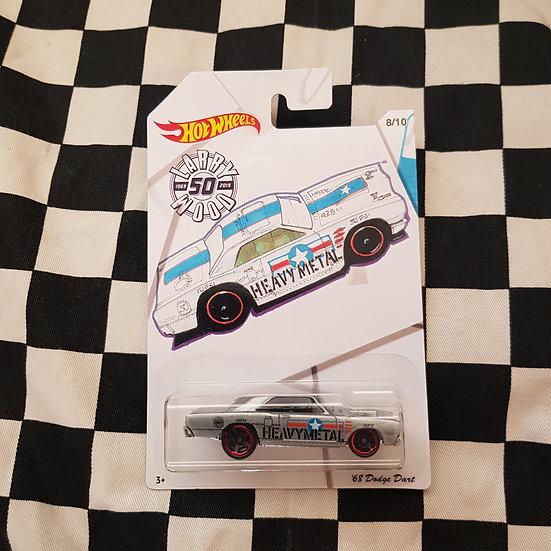 Hot Wheels 2019 Larry Wood 50th 68 Dodge Dart