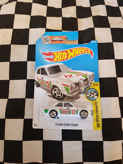 Hot Wheels 70 Ford Escort RS1600 CASTROL White