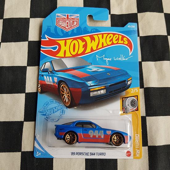 Hot Wheels 2021 Turbo 89 Porsche 944 Turbo Blue