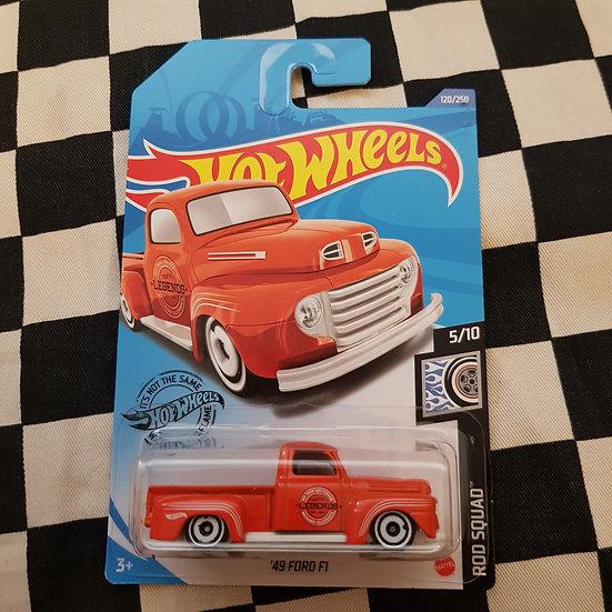 Hot Wheels 2020 Rod Squad 49 Ford F1 Orange