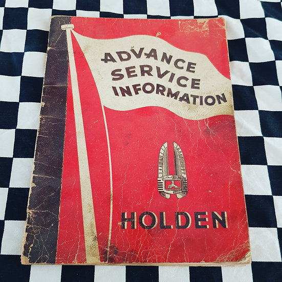 The Holy Grail! Ultra Rare Advance Service Information 1948 Holden Manual FX