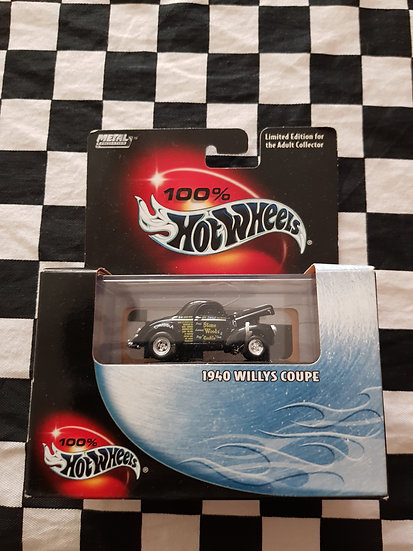 100% Hot Wheels 1940 Willys Coupe Stone Woods Cook Drag Gasser Hot Rod