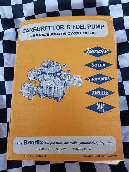 BENDIX SOLEX STROMBERG ZENITH APG CARBURETTOR & FUEL PUMP Parts Catalogue