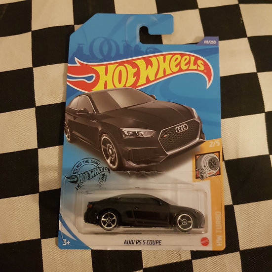 Hot Wheels 2020 Turbo Audi RS S Coupe Black