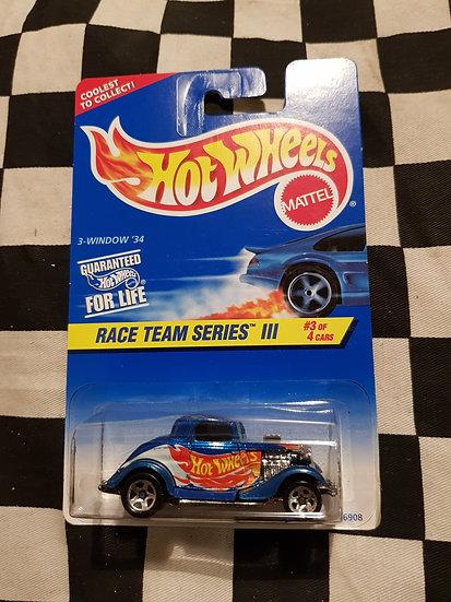 Hot Wheels 1996 Race Team III 3 Window 34 Ford Hotrod