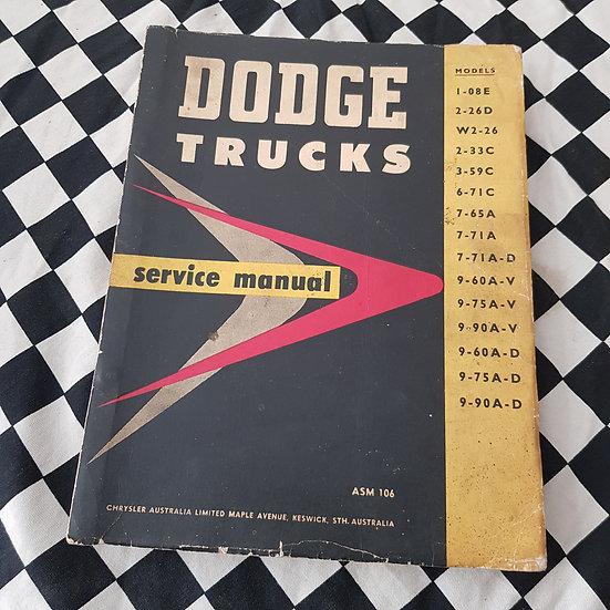 Genuine Dodge Trucks Workshop Manual HTF