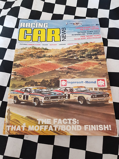RACING CAR NEWS 11/77 Moffat Bond FORD 1/2 Finish