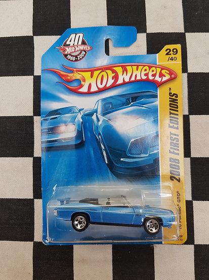 Hot Wheels 2008 First editions 70 Pontiac GTO Blue