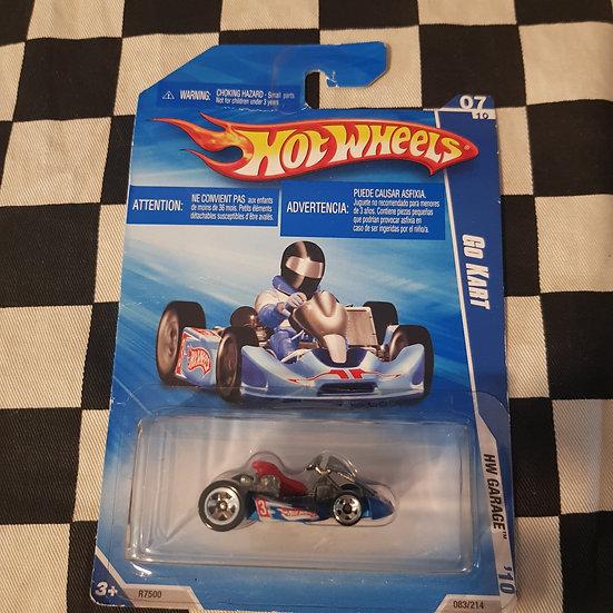 Hot Wheels 2010 Garage Go Cart Blue