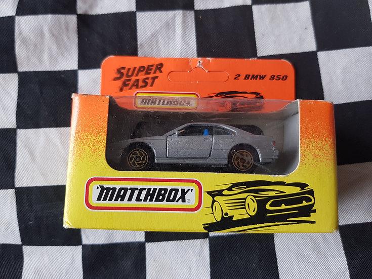 Matchbox Super Fast Boxed 1993 #2 BMW 850 Silver