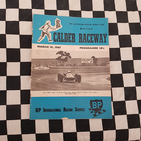 Calder Raceway Motor Racing Program March 19 1967