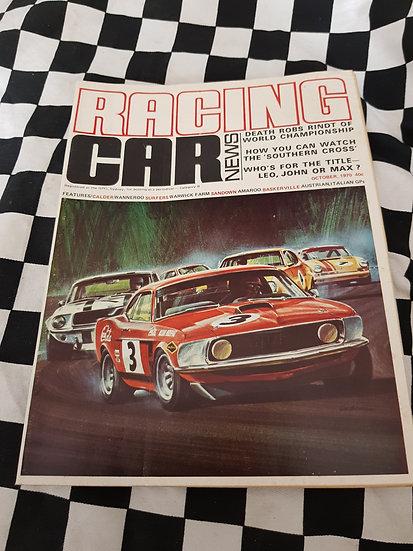 RACING CAR NEWS 10/70 Moffat Mustang