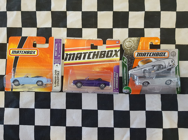 Matchbox Vw Type 34 Karmann Ghia Convertible Choice of 3
