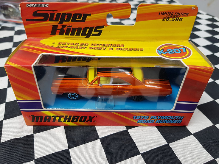 Matchbox Classic Superkings 1970 Plymouth Road Runner Limited Edition