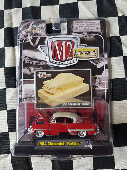 M2 Auto Thentics 1954 Chevrolet Bel Air Red/White