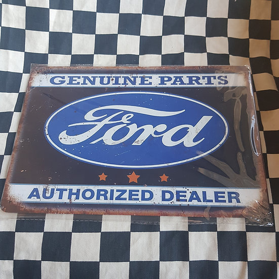 Tin Sign Repro 20x30 Ford Authorised Dealer